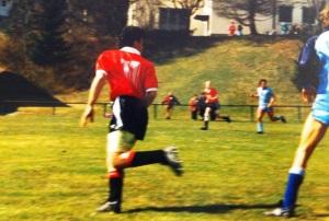Rares Bilddokument: Herr Kofler beim Kicken